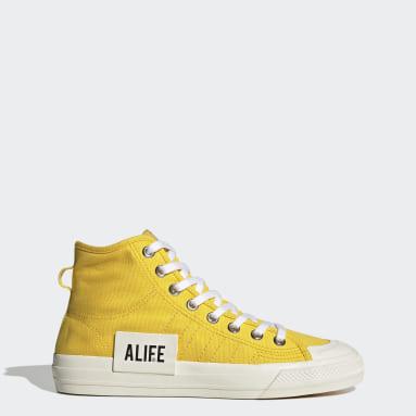 Originals Yellow Nizza Hi Alife Shoes