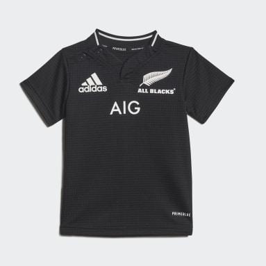 Réplica do Equipamento Principal Primeblue dos All Blacks para Bebé Preto Criança Rugby