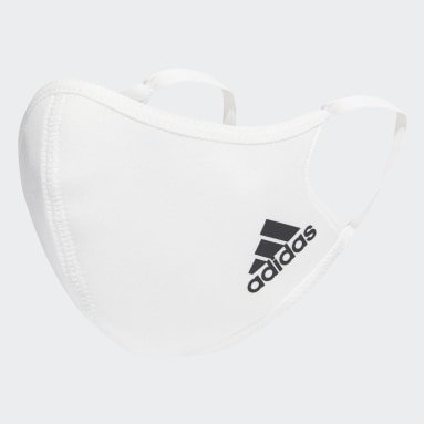Sport Inspired White Face Covers 3-Pack XS/S