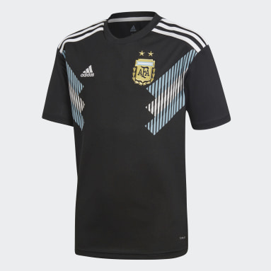 Réplica Jersey Visitante Selección Argentina (UNISEX) Negro Niño Fútbol