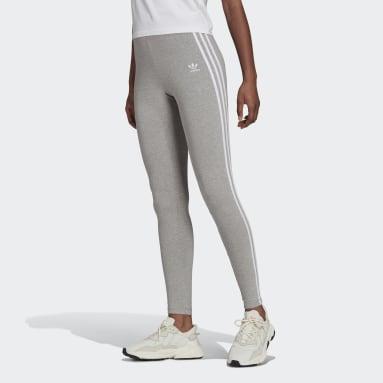 Women's Originals Grey Adicolor Classics 3-Stripes Tights