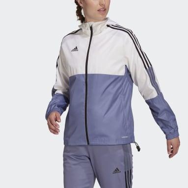 Women's Soccer White Tiro Windbreaker