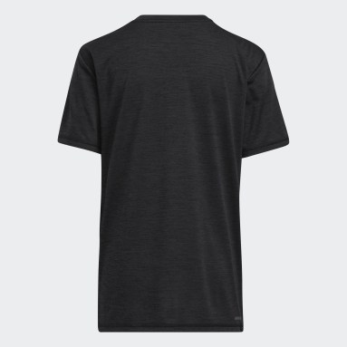 Youth Training Black Offset Badge of Sport Tee
