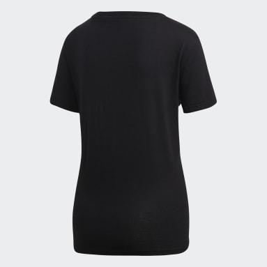 Dames Sportswear zwart Essentials Linear T-shirt