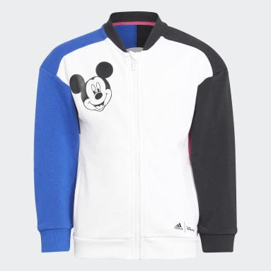 Kinder Fitness & Training Disney Mickey Mouse Jogginganzug Weiß