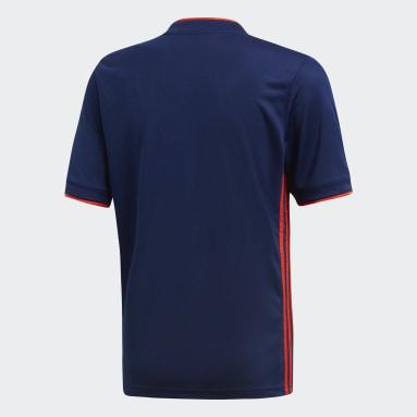 Camiseta segunda equipación Olympique de Lyon Azul Niño Fútbol