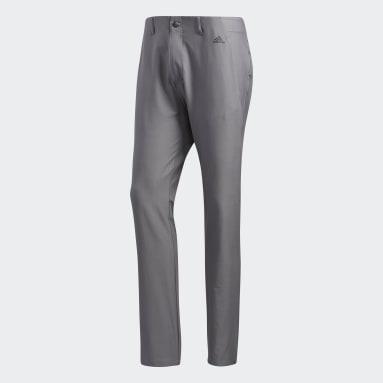 Pantaloni Ultimate365 3-Stripes Tapered Grigio Uomo Golf