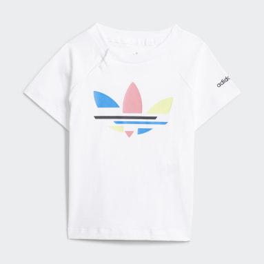 Kinderen Originals Wit Adicolor Short en T-shirt Setje