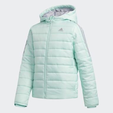 Girls Gym & Träning Turkos Classic Puffer Jacket