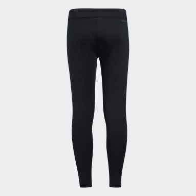 Youth Training Black Long Tights (Extended Size)