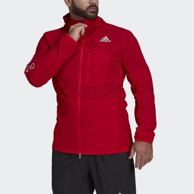 Men Running Red Adizero Marathon Jacket