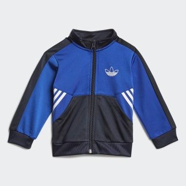 Kinderen Originals blauw adidas SPRT Collection Trainingspakje