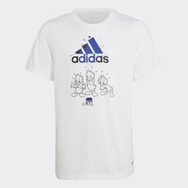 T-shirt Huguinho, Zezinho e Luisinho adidas x Disney Branco Rapazes Sportswear