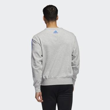 Men's Training Grey Jayhawks Vintage Crew Sweatshirt