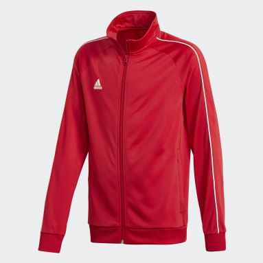 Kids Gym & Training Red Core 18 Track Top