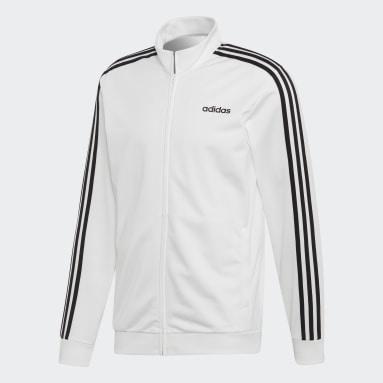 Men's Essentials White Essentials 3-Stripes Tricot Track Top