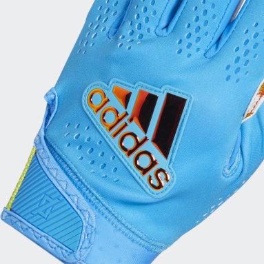 Men's Football Blue Adizero 11 All-American Game Gloves