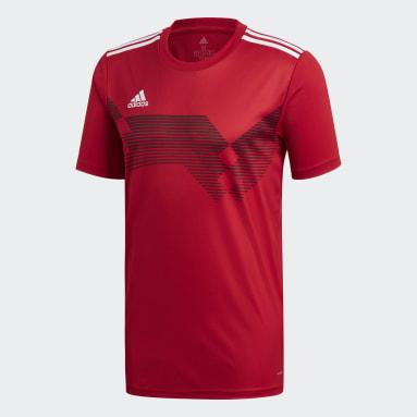 Camiseta Campeón 19 Rojo Hombre Fútbol