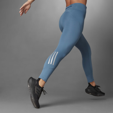 Frauen HIIT Running Thermal Tight Blau