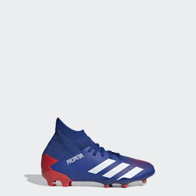 Kids Football Blue Predator 20.3 Firm Ground Boots