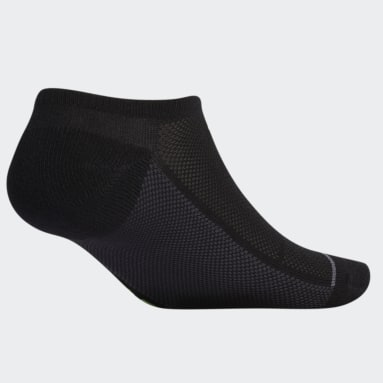 Men's Training Black Superlite Stripe No-Show Socks 3 Pairs
