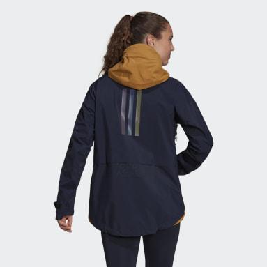 Women TERREX Blue Terrex MYSHELTER GORE-TEX Rain Jacket