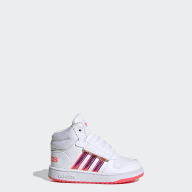 Infant & Toddler Essentials White Hoops 2.0 Mid Shoes