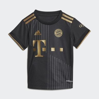 Kids Football Black FC Bayern 21/22 Away Baby Kit