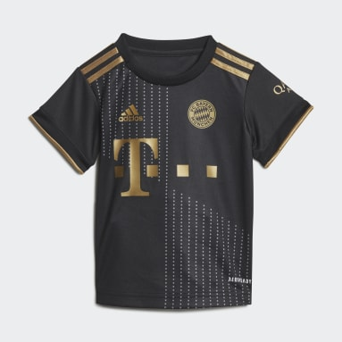 Děti Fotbal černá Venkovní souprava FC Bayern 21/22 Baby