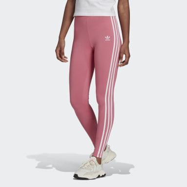 Women Originals Pink Adicolor Classics 3-Stripes Leggings