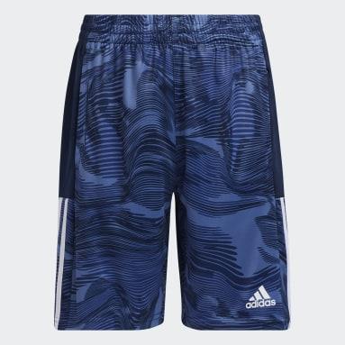 Youth Training Blue Camo Shorts