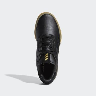 Youth Golf Black Adicross Retro Shoes