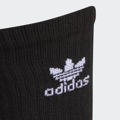 Men's Originals Black Trefoil Crew Socks 6 Pairs