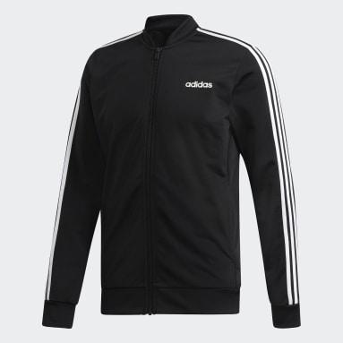 Männer Sportswear 3-Streifen Trainingsanzug Schwarz