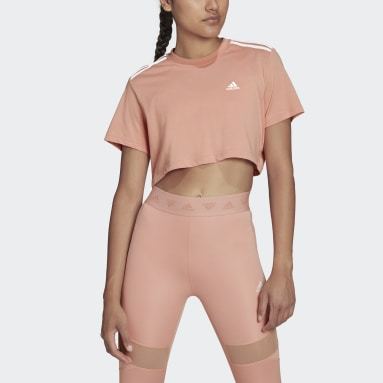 CROPPED TEE W Rosa