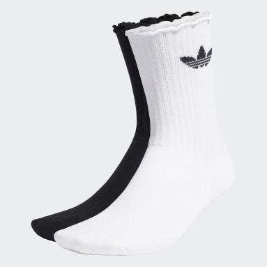 Women Originals White Ruffle Crew Socks 2 Pairs
