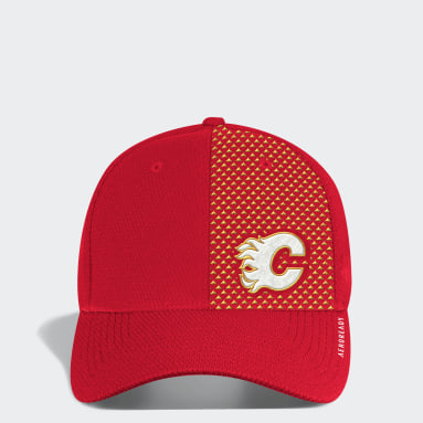 Men Hockey Multi Flames Structured Stretch Cap