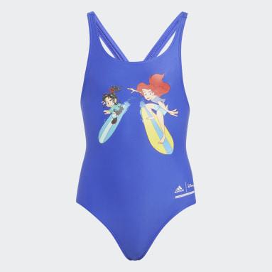 Mädchen Schwimmen Disney Princess Badeanzug Blau