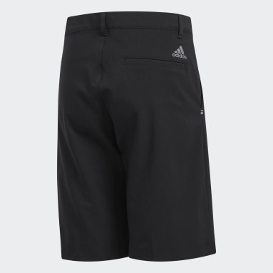 Youth 8-16 Years Golf Black Solid Golf Shorts
