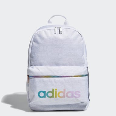 Children Training White Classic 3-Stripes Backpack