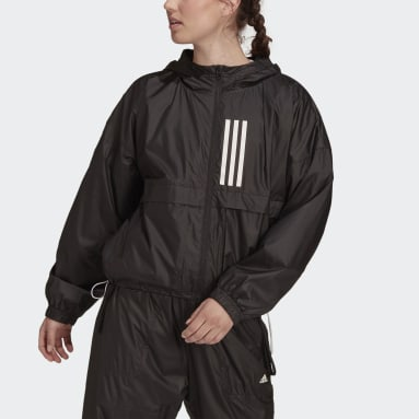 Dam Sportswear Svart adidas Sportswear WND.RDY Woven Jacket
