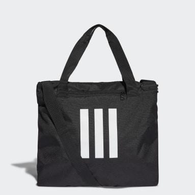 Lifestyle Black Essentials 3-Stripes Tote Bag