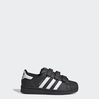 Kinderen Originals Zwart Superstar Schoenen