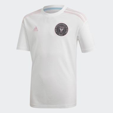 Youth Soccer White Inter Miami CF Beckham Home Jersey