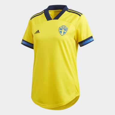 Maillot Suède Domicile Jaune Femmes Football