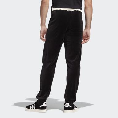 Men Originals Black adidas SPRT Velour 3-Stripes Pants
