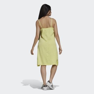Frauen Originals adicolor Classics Satin Kleid Gelb