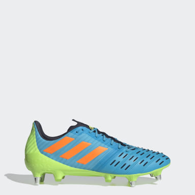 Rugby Turquoise Predator Malice Control Soft Ground Boots