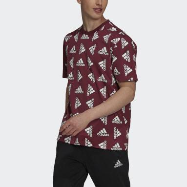 Herr Sportswear Burgundy Essentials Loose Giant Logo Tee (Gender Neutral)
