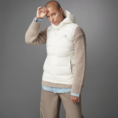 Women City Outdoor White HELIONIC Down Hooded Vest